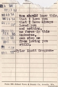words & image courtesy of tyler knott gregson.