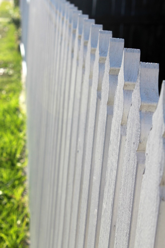 Nothing says 'home' quite like a white picket fence.